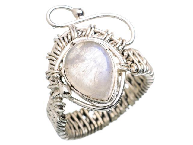 Ana Silver Co Rainbow Moonstone 925 Sterling Silver Ring Size 8 - Handmade Jewelry RING833024