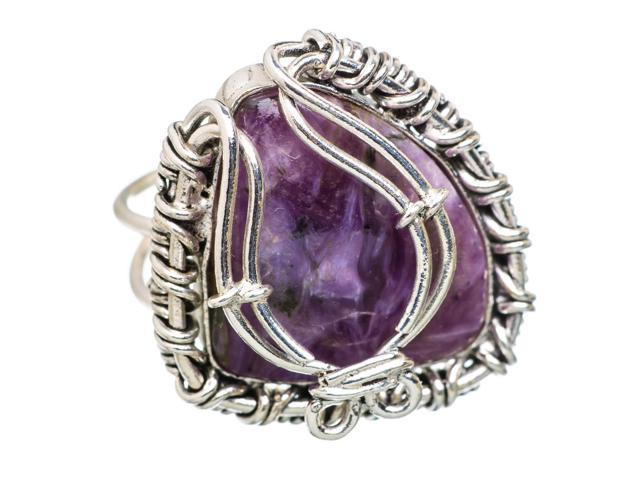 Ana Silver Co Rare Charoite 925 Sterling Silver Ring Size 9 - Handmade Jewelry RING832984