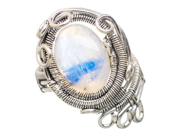 Ana Silver Co Rainbow Moonstone 925 Sterling Silver Ring Size 7 - Handmade Jewelry RING832897