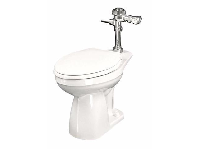National 21762 Gerber Maxwell Elongated Toilet Bowl, White