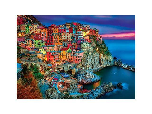 Buffalo Games Cinque Terre from The Vivid Collection Jigsaw Puzzle (300 Piece), Large