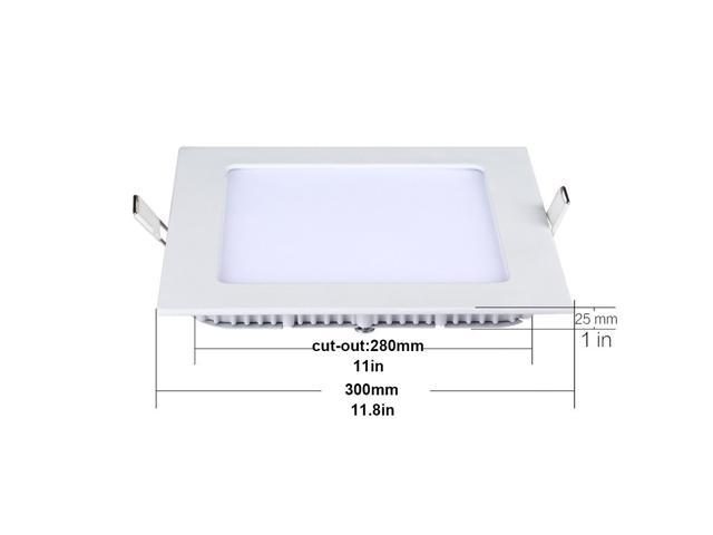 Thg 12 Inch Square Led Panel Light 24w 180w Replacement 5000k