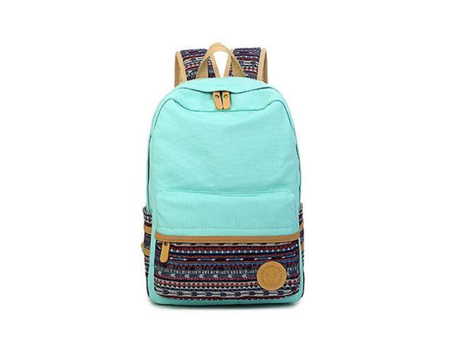 Casual Style Lightweight Laptop Bag/Shoulder Bag/School Backpack/Travel Bag with Embroidery Design with One Free Pen Bag