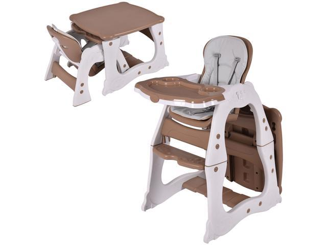 3 in 1 Baby High Chair Convertible Play Table Seat Booster Toddler Feeding Tray