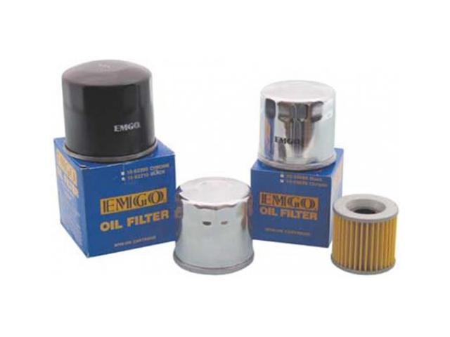 Emgo Oil Filter - Micro-Glass - Chrome ATV   10-82222 10-82222