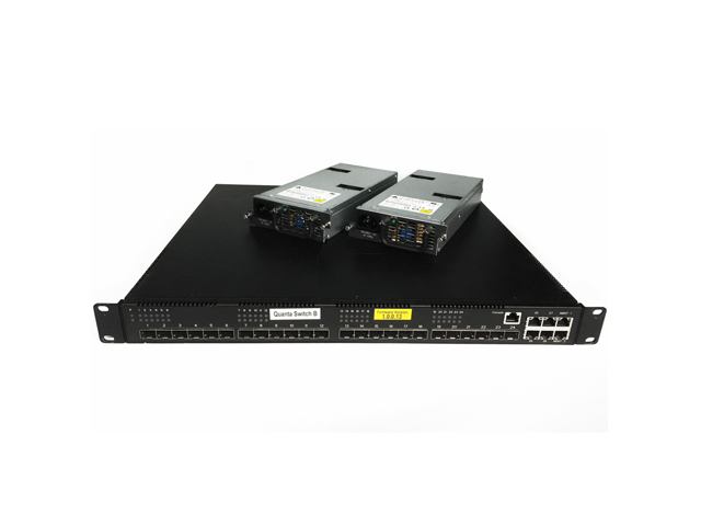 Quanta LB6M 10GB 24-Port SFP+ Switch QY139A Dual Power Supply with Rack Ears