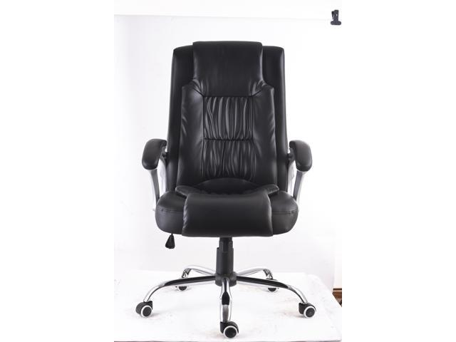 MCombo High Back Leather Executive Office Desk Task Computer Chair w/Metal Base 3056