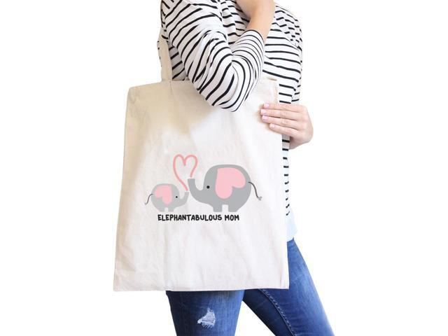 Elephantabulous Mom Natural Cute Design Funny Graphic Canvas Tote