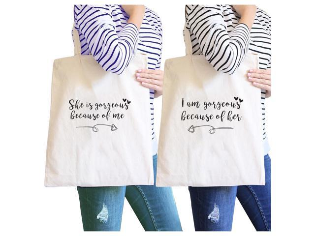 She Is Gorgeous Because Of Me Natural Cute Grocery Bag Gift For Mom