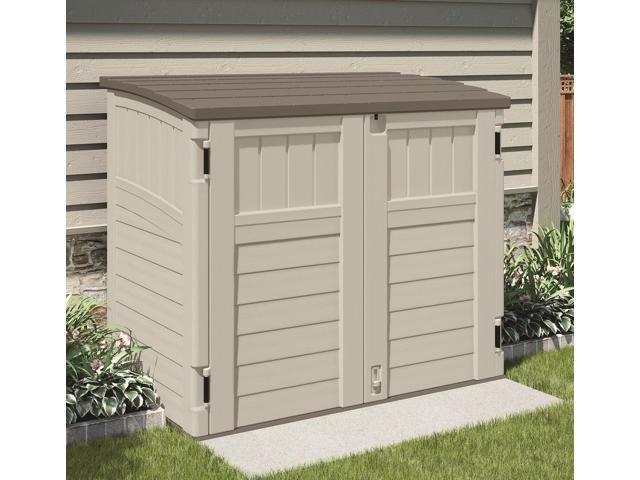suncast bms2500 horizontal storage shed 2 ft 8 14 l x 4