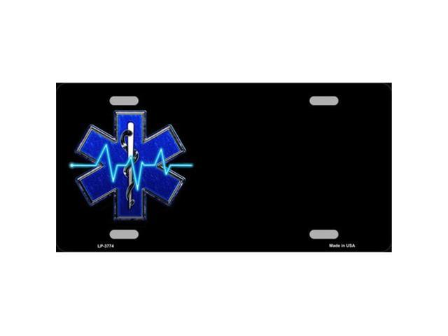 Smart Blonde LP-3774 Medical Rescue Logo Offset Metal Novelty License Plate