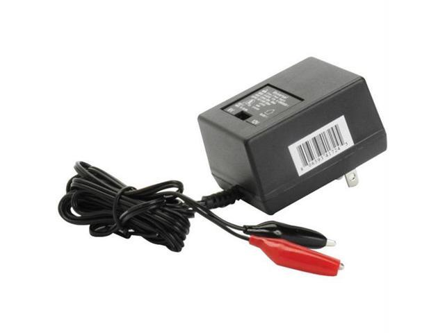 UPGI D1724 SEALED LEAD ACID BATTERY CHARGER - 6V/12V SWITCHABLE SINGLE - STAGE WITH ALLIGATOR CLIPS
