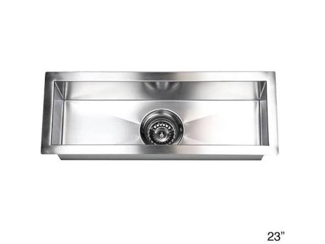 Contempo Living F2308 23 In. Undermount Single Bowl Zero Radius Kitchen  Prep Bar Sink