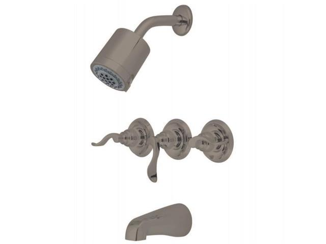 Kingston Brass KB8238NFL NUWAVE FRENCH Tub and Shower Faucet with Three Handle