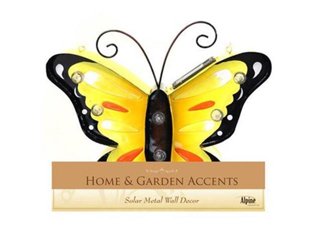 Alpine QZM144ABB-201 Solar Metal Butterfly Wall Decor - Assorted ...