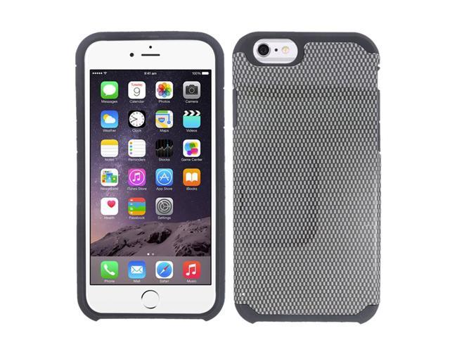 For Apple iPhone 6 - SLIM HYBRID Design Cover w/ UV Coating - Carbon Fiber SMHYBDP