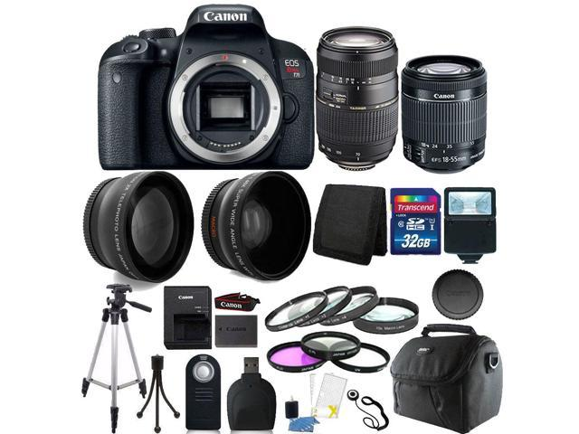 Canon EOS Rebel T7i 24.2MP DSLR Camera with 18-55mm + 70-300mm + 32GB Accessory Kit