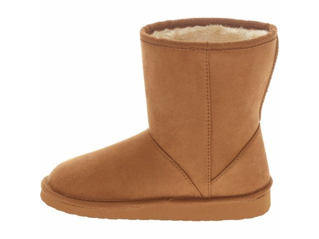 Faded Glory Toddler Girls' Shearling Boots, 10, Tan