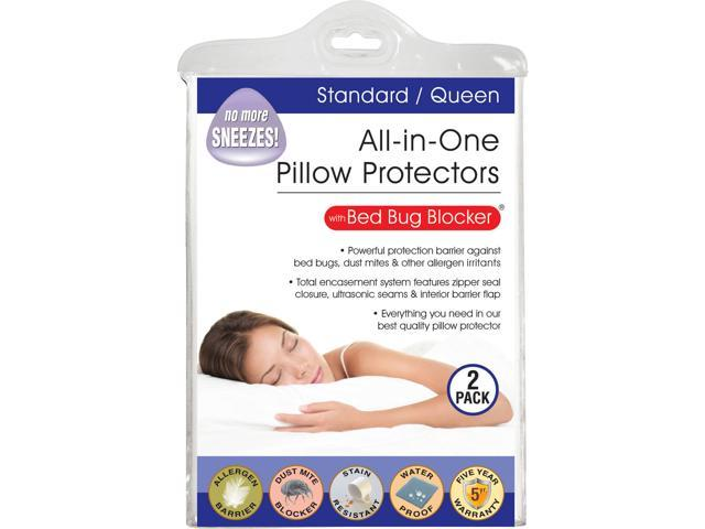 Original Bed Bug Blocker Zippered Pillow Protector, Standard, 2-Pack