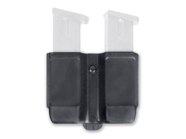 Blackhawk 410610PBK Black Slim Profile Double Magazine Pouch With Tension Spring