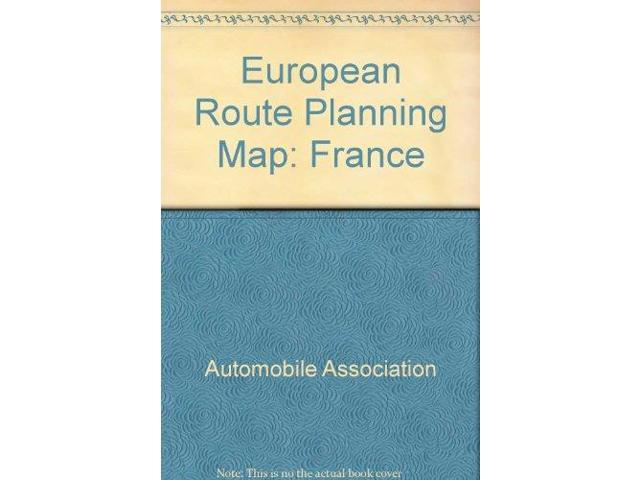 European Route Planning Map: France