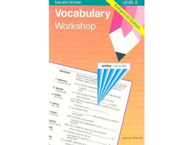 Answers to sadlier-oxford vocabulary workshop level e unit 8 sadlier oxford vocabulary workbook level d unit 1