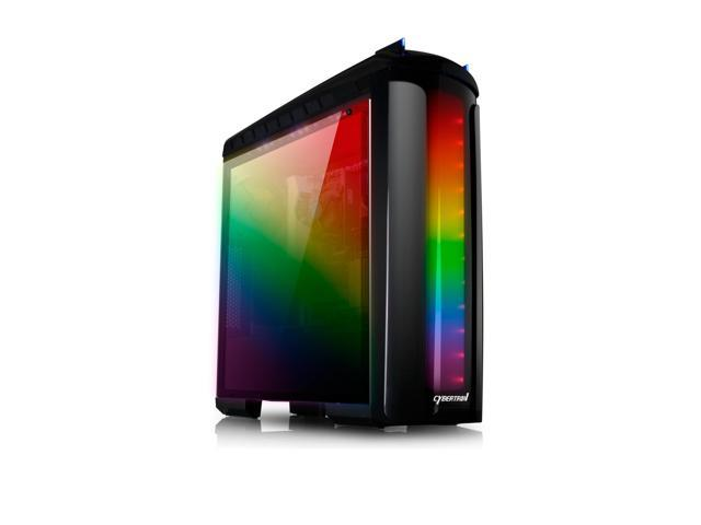 CybertronPC Gaming Desktop PC Rhodium AMD Ryzen 7 1700X 3.4GHz (8 Cores) 16GB DDR4 1TB HDD 250GB NVMe NVIDIA GeForce GTX 1060 3GB GDDR5 MS Windows 10 Home 64-Bit