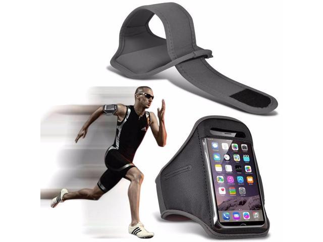 iTronixs - ZUK Z2 Pro Adjustable Sports Armband Case Cover For Running Jogging Cycling Gym - Grey