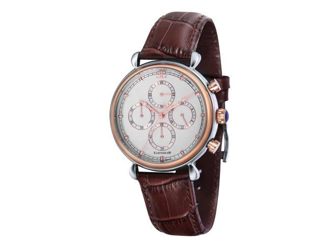 Thomas Earnshaw GRAND CALENDARCHRONOGRAPH Men Brown Genuine Leather Strap Watch - ES-8052-03
