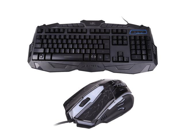 backlight usb wired laptop pc pro gaming keyboard mouse combo for