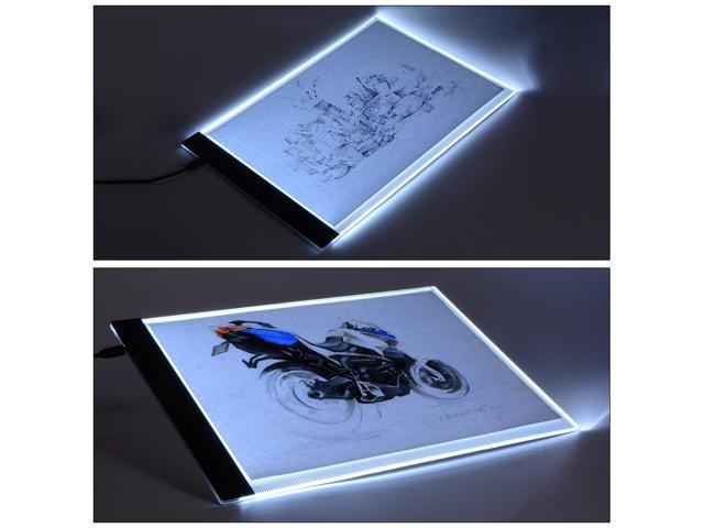 A4 LED Artist Thin Art Stencil Drawing Board Light Box Tracing Table Pad