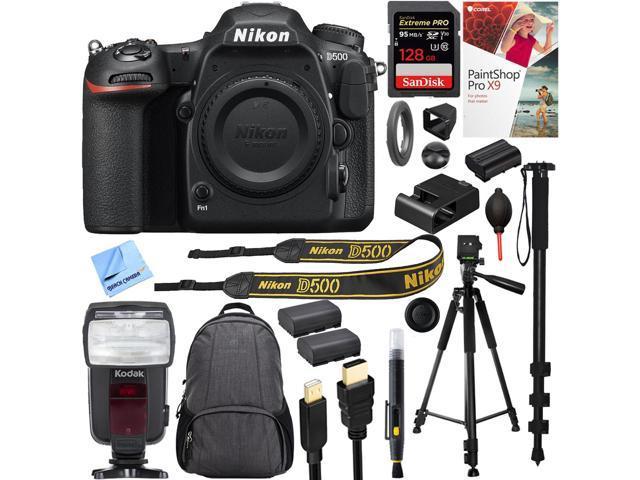 Nikon D500 20.9 MP CMOS DX Format DSLR Camera Body with 128GB Accessory Kit