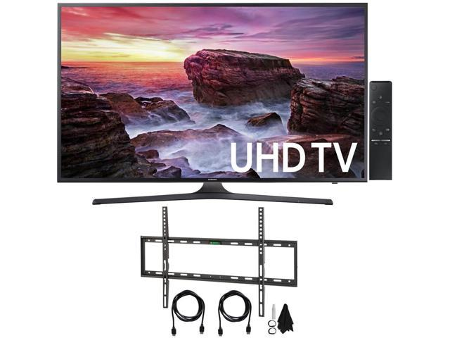 Samsung UN55MU6290 55 4K Ultra HD Smart LED TV (2017 Model) with Wall Mount Kit