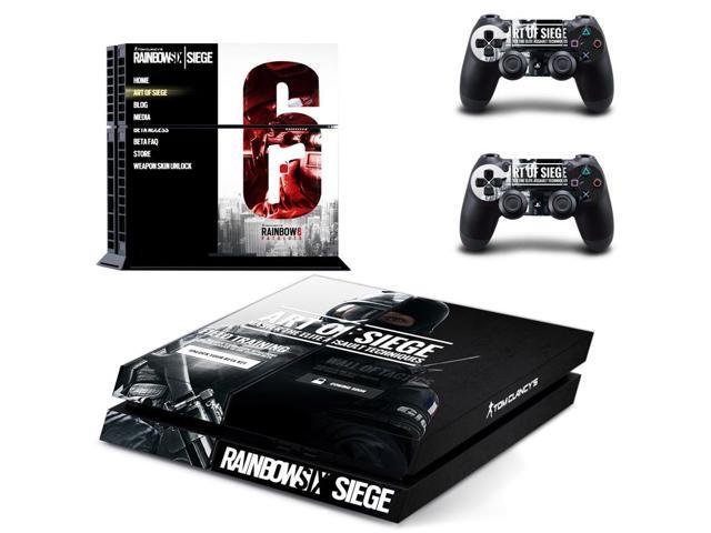 tom clancy 39 s rainbow six siege design ps4 skin stickers for playstation 4 ps4 console vinyl. Black Bedroom Furniture Sets. Home Design Ideas