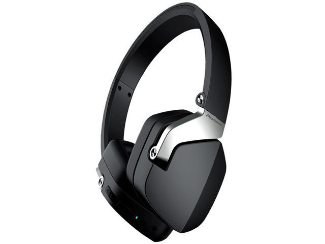 pioneer bluetooth headphones. pioneer sec-mj101bt stereo bluetooth fullly enclosed headphones with microphone (black)