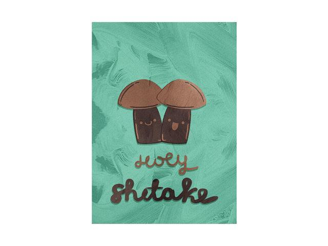 Holy Shitake Kitchen Pun Wall Art Plastic 7.5x10.5 Small Sign - 2 Pack of Signs