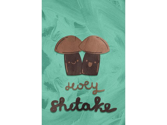 Holy Shitake Kitchen Pun Wall Art Metal 12x18 Large Sign - 2 Pack of Signs