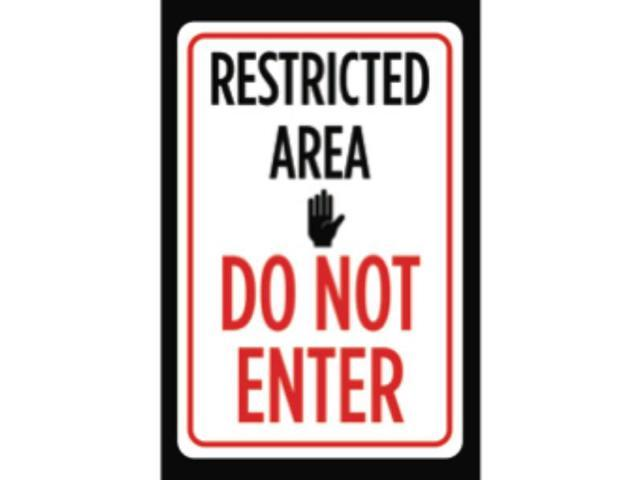 Restricted Area Do Not Enter Print Red Black White Picture ...