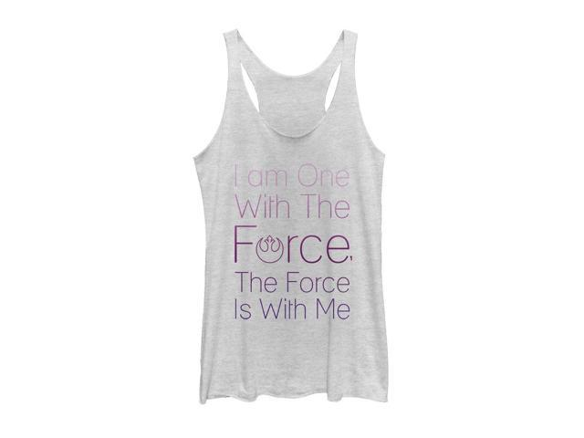 Star Wars Rogue One Chirrut One with Force Womens Graphic Racerback Tank