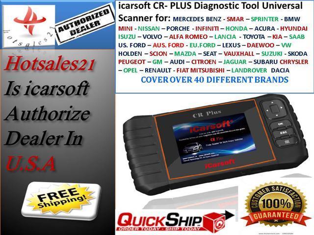 New Version ICARSOFT CR-PLUS UNIVERSAL OBD2 MULTI CAR