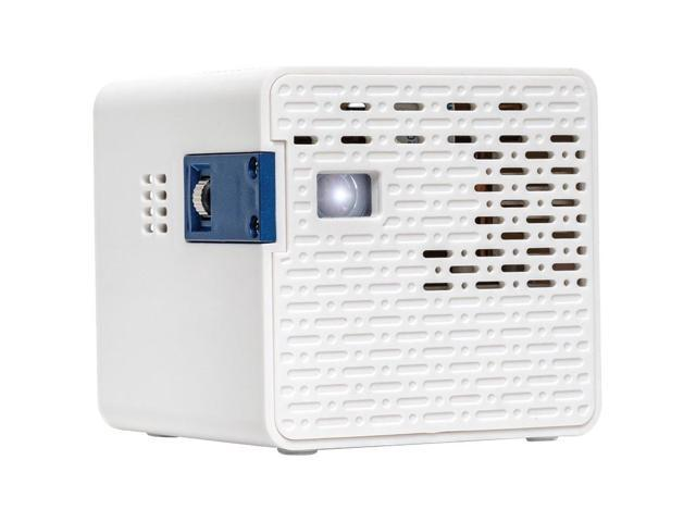 AAXA HD Pico LED Projector, 720p HD Native Resolution, 2.5 Hours Rechargeable Battery, Portable Mini Cube Design