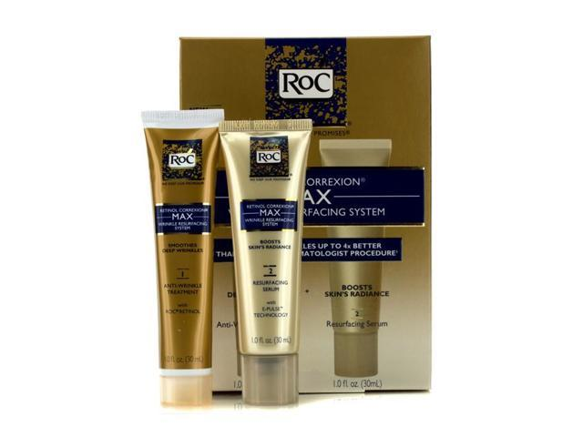 ROC - Retinol Correxion Max Wrinkle Resurfacing System: Anti-Wrinkle Treatment 30ml + Resurfacing Serum 30ml 2pcs