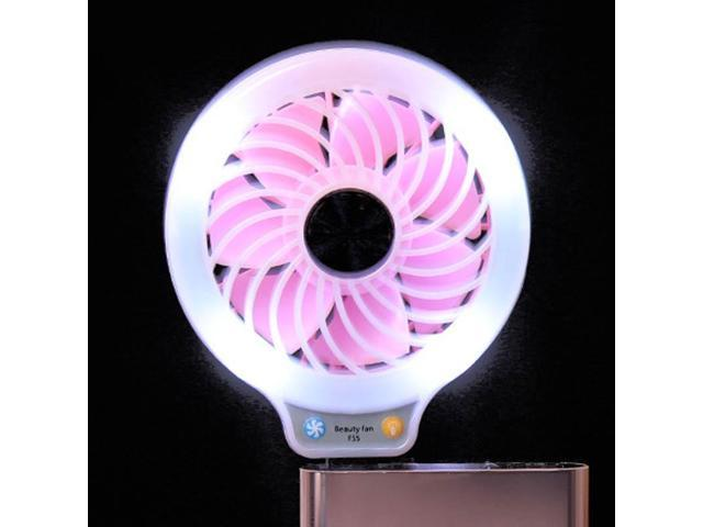 Beauty LED Usb Fan Mini Cooler Portable Pc Cooler Phone Laptop Computer  Eyelashes Dedicated Dryer Makeup Beauty Tool