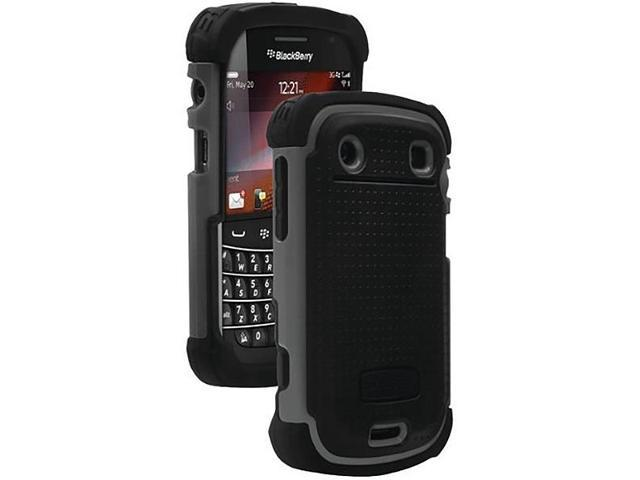 Ballistic Shell Gel Case for BlackBerry 9700/9780 Bold 2 in Black/Grey - SA0575-M315