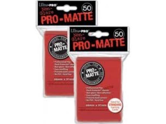 Deck Protector Sleeves: PRO-Matte 50 Red