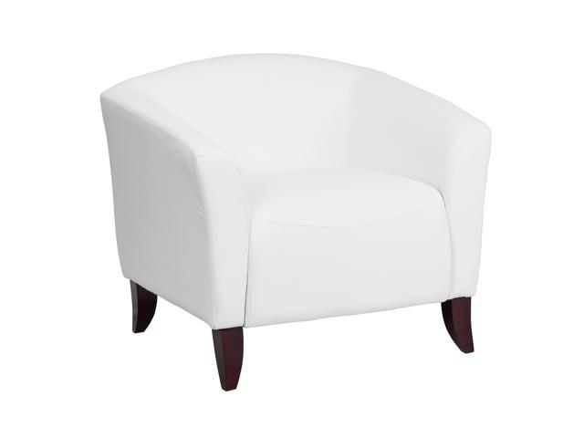 Flash Furniture Hercules Imperial Series White Leather Executive Reception Waiting Room Guest Chair