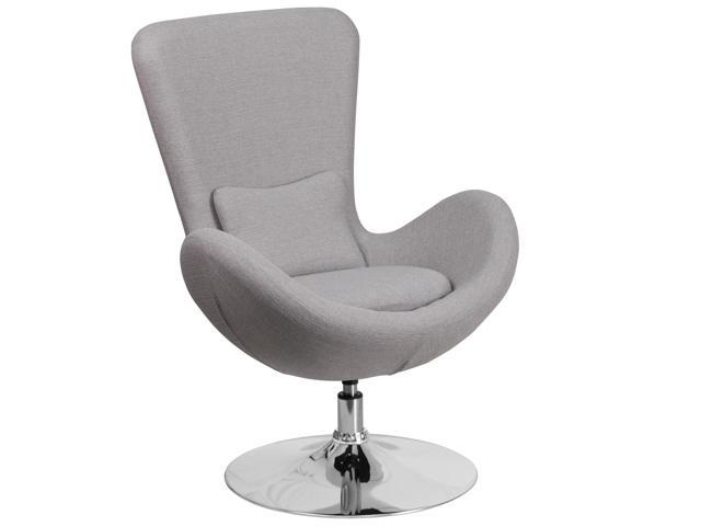 Light Gray Fabric Egg Series Reception-Lounge-Side Chair FLACH162430LTGYFABGG