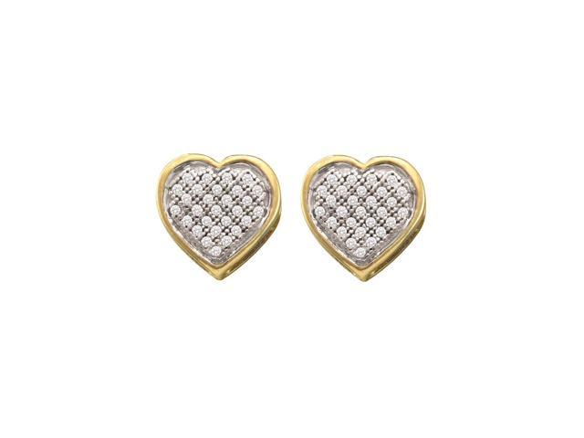 0.15ctw Diamond  Heart Earrings