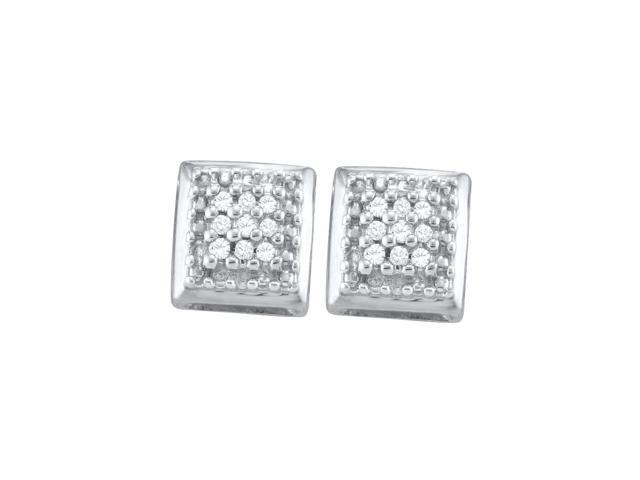 0.10ctw Diamond Cluster Earring