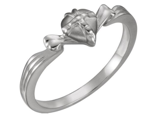 14K White The Gift Wrapped Heart® Ring Size 5